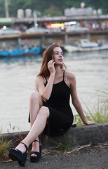 DP1U0265 (c0466art) Tags: charming attractive ukraine girl dasha keelung photography society portrait activity black long tight skirt elegant pose action cool feeling light canon 1dx c0466art