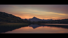 Peaceful Sunset (Jeke's Photos) Tags: landscape landscapes lake lacblanc mountain mountains nature cinematic canonef1635f28 canon canoneos5dmarkiii colorful reflections reflection sunset vanoise parcdelavanoise alpes alps france