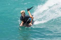 Waikiki Boogie (Oliver Leveritt) Tags: nikond7100 afsdxvrnikkor18200mmf3556gifed oliverleverittphotography hawaii oahu waikiki waikikibeach boy boogieboard surf