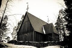 The Karuna Church (Jori Samonen) Tags: karuna church wooden winter snow wall tree roof seurasaari island helsinki finland nikon d3200 180550 mm f3556 nikond3200 180550mmf3556