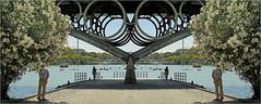 Puente de Isabel II sur le canal de Alfonso XIII, Sevilla, Andalucia, Espana (claude lina) Tags: claudelina espana spain espagne andalucia andalousie sevilla sville ville town city architecture canaldealfonsoxiii pont bridge puentedeisabelii
