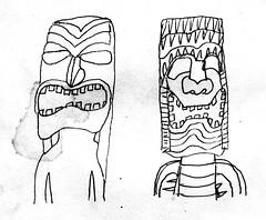 tiki gods art (kalihikahuna74 (Ryukyu Khan or Okinawa808)) Tags: tiki gods god artwork art hawaiian hawaii culture ethnic group world international polynesian polynesia