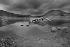 La casa del pant ( alfanhu) Tags: casa pantano pant embalse amadorio amadori vilajoyosa lavilajoiosa patos ducks blackandwhite blancoynegro nature landscape