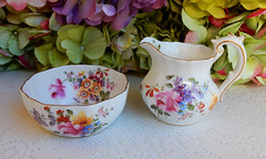 Royal Crown Derby Porcelain Sugar & Creamer ~ Flowers ~ Roses ~ Gold (Donna's Collectables) Tags: royal crown derby porcelain sugar creamer ~ flowers roses gold thanksgiving