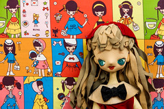 (Natalie B Robinson) Tags: japan vintage pose japanese 60s doll retro 1960s cloth bigeye bigeyed posedoll runenaito