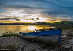 HDR ... (RTaminato) Tags: sunset brazil sky cloud sun green nature water sunshine brasil river photography boat photo nikon barco br natureza bra cu nuvem hdr d5100