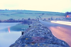 Digley & Bilberry Reservoir (rickymulan) Tags: sunset cold water walk yorkshire january reservoir holmfirth huddersfield bilberry digley 2013
