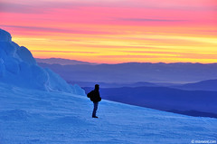 Vitosha mountain (.:: Maya ::.) Tags: pink sunset sky mountain man peak bulgaria vitosha    cherni vrah