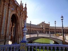 Sville (Serge LAROCHE) Tags: plaza espaa sevilla arquitectura andalucia espagne sville andalousie 1929 exposicin  patrimonio