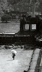 Chinese Tourist at Angkor (William J H Leonard) Tags: blackandwhite bw building monochrome architecture buildings asian ruins asia cambodia southeastasia cambodian khmer buddhist ruin buddhism siemreap angkor hindu hinduism ta buddhisttemple keo hindutemple angkorthom southeastasian angkorcomplex blackwhitephotos