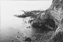 SUNSET CLIFFS (DustinSingler) Tags: longexposure sunset blackandwhite bw sandiego cliffs d700