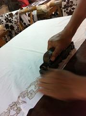 stamp batik process (Della Ong) Tags: indonesia singapore culture stamp textile cooper material wax sarong batik peranakan littlenyonya