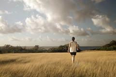 Vieques (pantagrapher) Tags: ocean woman field grass sunshine sunrise puerto island nikon rico vieques d600
