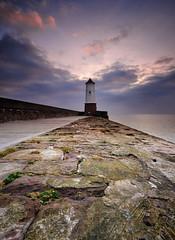 Rocky Road (Elidor.) Tags: morning sea lighthouse clouds sunrise dawn coast pier northumberland jpeg northeast berwickupontweed refurbished d90 silverrainbow