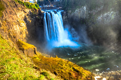 268ft. Snoqualmie Falls, WA. (Pastv4) Tags: mist color water stone landscape waterfall washington rocks cliffs spray filter greenery snoqualmiefalls washingtonstate hdr carlzeiss wideanglelens polarizerfilter bwpolarizerfilter sonya77 slta77vq carlzeiss1635mmf28zassmlens
