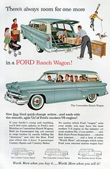1954 Ford Ranch Wagon Advertisement National Geographic August 1954 (SenseiAlan) Tags: ranch ford wagon 1954 august advertisement national geographic