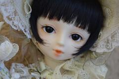 Dark Sweet Eyes (Purple ♥ Enma) Tags: portrait white snow black face ball eyes mod doll dolls open sweet yo dream modified bjd resin volks swd modded mamu jointed tenshi yosd