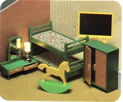 Leisure Industries 1981 Toy Works My First Home 1304 childrens den (Rebecca's Collections) Tags: vintage jean plastic devon 1970s 1980s dollhouse westgermany dollshouse bideford wader modella toyworks