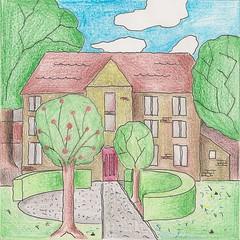 'Hoeve' (HansErmers) Tags: drawing crayon bleistift colorpencil zeichnung tekening potlood