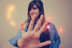 fun (N6ra) Tags: girl fun hand stop