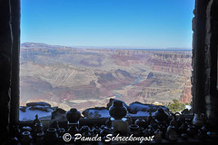 Looking out the Window (pamelainob (Pamela Schreckengost)) Tags: arizona grandcanyon southrim desertview watchtower grandcanyonnationalpark desertviewdrive grandcanyonsouthrim pamelaschreckengost pamschreckcom 2013pamelaschreckengost