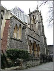 St James' Scottish Presbyterian Church, Bristol (pefkosmad) Tags: uk england tower exterior victorian ruin nave bombed offices josephneale bristol2013 stjamesscottishpresbyterianchurch