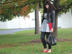 The Clock Ticks On (Katie Burry) Tags: girl belt outfit dress jeans jacket cardigan topshop balletflats modcloth