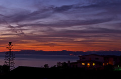 coastline at dusk (Tantivy_J) Tags: longexposure nightphotography skyscape nightlights nightscape dusk coastline nightshots nightsky afterdark aftersunset availabledarkness coastalcalifornia coastalliving nikond60 houseatnight