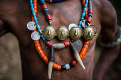traditional skull necklace Weared by last head hunters, warrior tribe konyak, nagaland