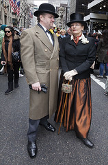 Easter Parade NYC 5th Avenue 3_31_13 Bowlers adn Top Hats (robertdanielullmann) Tags: tophat bowlerhat robertdanielullmann easterparadenyc5thavenue33113couple