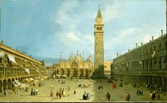 Canaletto - The Metropolitan Museum of Art 1988.162. Piazza San Marco (late 1720s) (lack of imagination) Tags: people church buildings blog cityscape metropolitanmuseumofart canaletto 35004000