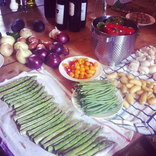 Prepping the #veggies for tonight's bbq #bordeaux #rileyandmaggi