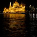 Hungarian Parliament building, Budapest, at night.