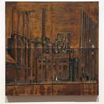"<b>Blast Furnace #3, 2011</b><br/> (Benincasa, Encaustic, rust, oil paint, cement, wood on sheet metal)<a href=""http://farm9.static.flickr.com/8527/8621523435_1c14ea6757_o.jpg"" title=""High res"">∝</a>"