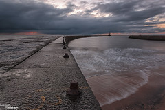Before The Storm (Dave Brightwell) Tags: sea sky lighthouse seascape storm water clouds sunrise coast pier waves harbour wildlife tide steps seal northeast hitech redsnapper seaham countydurham davebrightwell