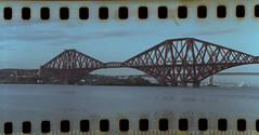 Forth Bridge (pano) (steveo_mcg) Tags: bridge colour film rail forth 200 vista panorma agfavista rb67