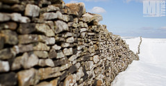 Dry Stone (M J Small Photography) Tags: uk blue sky snow stone wall canon landscape yorkshire 28mm perspective 7d f18 dales drystone penyghent
