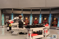 Iron Man - Hall of Armour (Jared Chan) Tags: man toys iron lego ironman marvel stark tonystark moc pepperpotts starkindustries happyhagon
