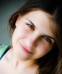 High-Key Portrait (TOmShAhaR_PhOTo_) Tags: light portrait white green female 35mm 50mm high nice model eyes nikon women key shoot natural skin background gray highkey mm f18 d5100