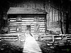 Log Cabin (Rock Steady Images) Tags: original blackandwhite bw museum canon logcabin cameras handheld 50views onone topaz 25views powershots3is niksoftware bypaulchambers photoshopcs6 rocksteadyimages