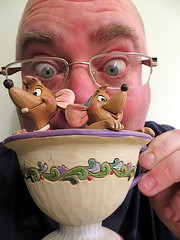 Jaq & Gus (danieljsf) Tags: silly cup mouse rodent eyes funny tea drink humor humour disney mice surprise characters cinderella gus unexpected jaq