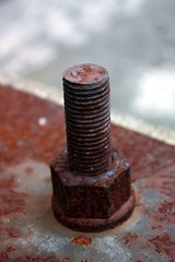 Rusted Bolt (sjrankin) Tags: school japan closeup rust hokkaido edited elementaryschool bolt processed levels duplicate yubari 14april2013