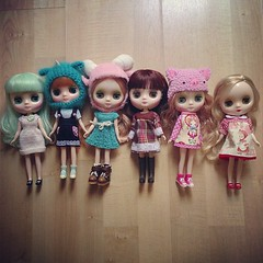 My Middie team  #blythe #blythedoll #blythestagram #sweet #kawaii #cute #doll #toy #toystagram #toyrevolution #toyplanet #barcelona #kawaiiplanet #custom #middie #middieblythe #blytheconbarcelona