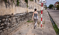 Walking the Streets of Kon Tum, Vietnam (ChrisGoldNY) Tags: city travel urban streets walking asian asia southeastasia vietnamese forsale stones decay vietnam viet viajes frombehind posters albumcover walls bookcover sidewalks bookcovers albumcovers vn gridskipper centralhighlands kontum jaunted kontumprovince chrisgoldny chrisgoldberg chrisgold chrisgoldphoto chrisgoldphotos konttumprovince