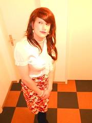 07042013_19 (Rikky_Satin) Tags: cute sexy high dress feminine silk blouse tgirl heels satin crossdresser rikky