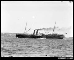 Paddle steamer NEWCASTLE, Sydney Harbour (Australian National Maritime Museum on The Commons) Tags: ferry river newcastle sydney ps steamer sydneyharbour 1884 paddlesteamer williamhall williamhallcollection