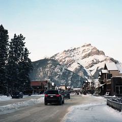 (hatman003) Tags: road winter mountain snow canada car village peak alberta banff banffnationalpark
