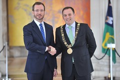 Mayor Maroto of Vitoria-Gasteiz in City Hall, Dublin