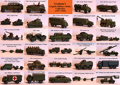 Graham's English Military Dinky Collection (1937-1964) (graham2034) Tags: gun tank jeep military ambulance dinky diecast armouredcar austin7 watertanker scoutcar aagun armouredpersonnelcarrier tanktransporter dinkytoys austinchamp centuriontank artillerytractor 18pounder 25pounderfieldgun recoverytractor reconnaissancecar armouredcommandvehicle watertanktrailer fieldgununit cookertrailer 1toncargotruck usarmystaffcar honestjohnmissilelauncher pressurerefueller 6wheeledtransportwagon armycoveredwagon missileservicingplatform