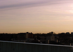 (SamanthaMarieLaster) Tags: city skyline sunrise michigan parking structure dearborn
